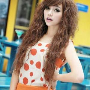 Fashion Sexy long Full Curly Wavy S..