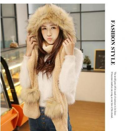 All in One FOX FUR Winter Warm Ski ..