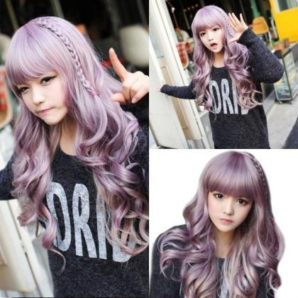 Japanese Harajuku Zippe Purple Mix ..