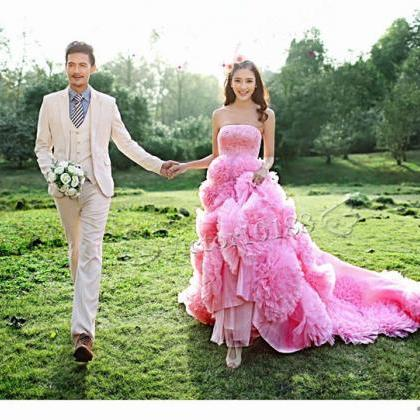 Pink Wedding Dresses Prom Party Qui..