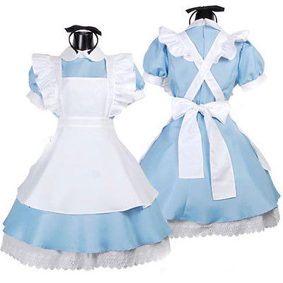 Halloween Maid Costume Alice In Wonderland Sexy Maids Fancy Women Dress Cosplay