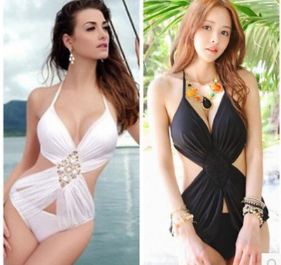 New Summer Women Beach Sexy Conjoined Triangle Bikini Bandage Swimsuit Swimwear