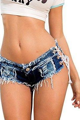 Sexy Cut Off Women Ladies Denim Jeans Low Waist Shorts Short Mini Trousers Pants