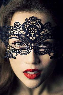 5 pcs Black Lace Mask Lace Queen Women Mask Masquerade Mask Sexy Lingerie Mask