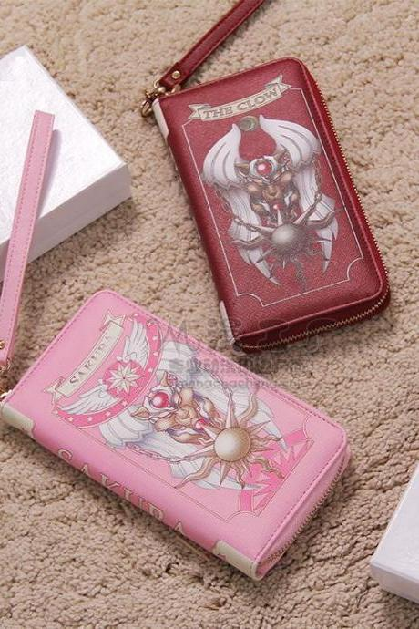 Card Captor Pink Cardcaptor Sakura Kinomoto Star Bag Limit Handbag Wallet