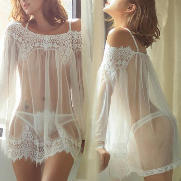 Extremely Sexy Lingerie Sleep Nightwear Babydoll Lace Underwear G String Dress