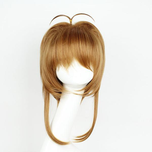 Short Cardcaptor Sakura Brown Synthetic Anime Lolita Wig Cosplay Costume Hair Wig Party Wig