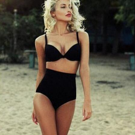 Women Sexy Beauty Lady Retro High Waist Bikini Set Beach Swimwear Swimsuit