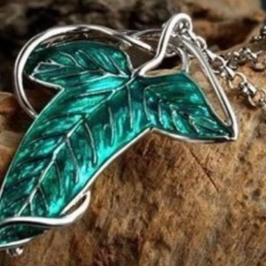 Hot New Lord of the Rings Leaf The Elven Brooch Fellowship Brooch Necklace